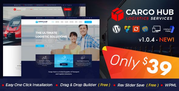 Cargo HUB - Transport WordPress Theme for Transportation, Logistics