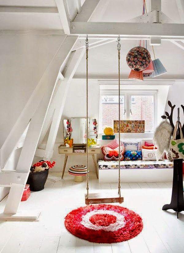 schaukel zum austoben kinderzimmer pinterest kinderzimmer kinderzimmer ideen und kinder. Black Bedroom Furniture Sets. Home Design Ideas