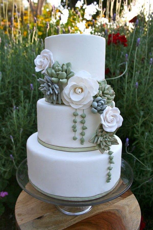 Tendenze: decorare la wedding cake con le succulen