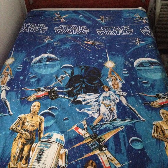 Original 70s Star Wars Bed Sheet In Excellent Condition Free