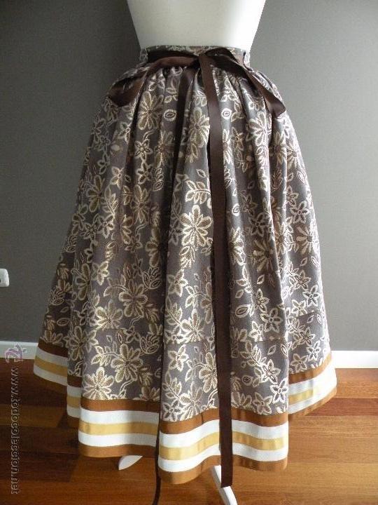 e3068e7a2 falda para traje regional | vestidos y blusas | Vestidos, Faldas y ...