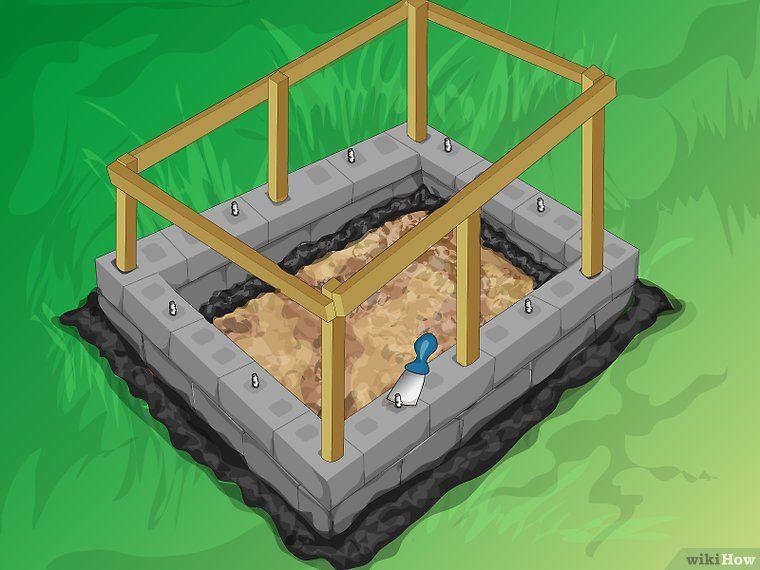 How To Build A Mortarless Concrete Stem Wall 15 Steps Concrete Block Walls Building A Fence Building A Deck