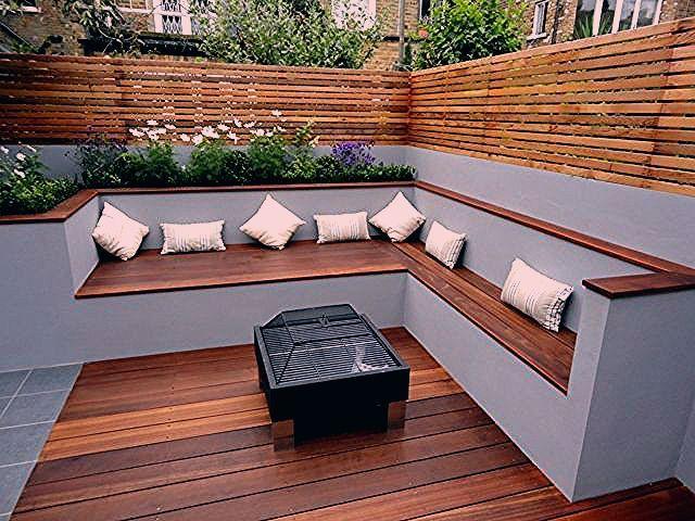 Photo of Die moderne Gartenbank aus Holz passt in jede Gartensituation