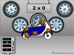 Car Wash Multiplication Math Game Content Skill Multiplication