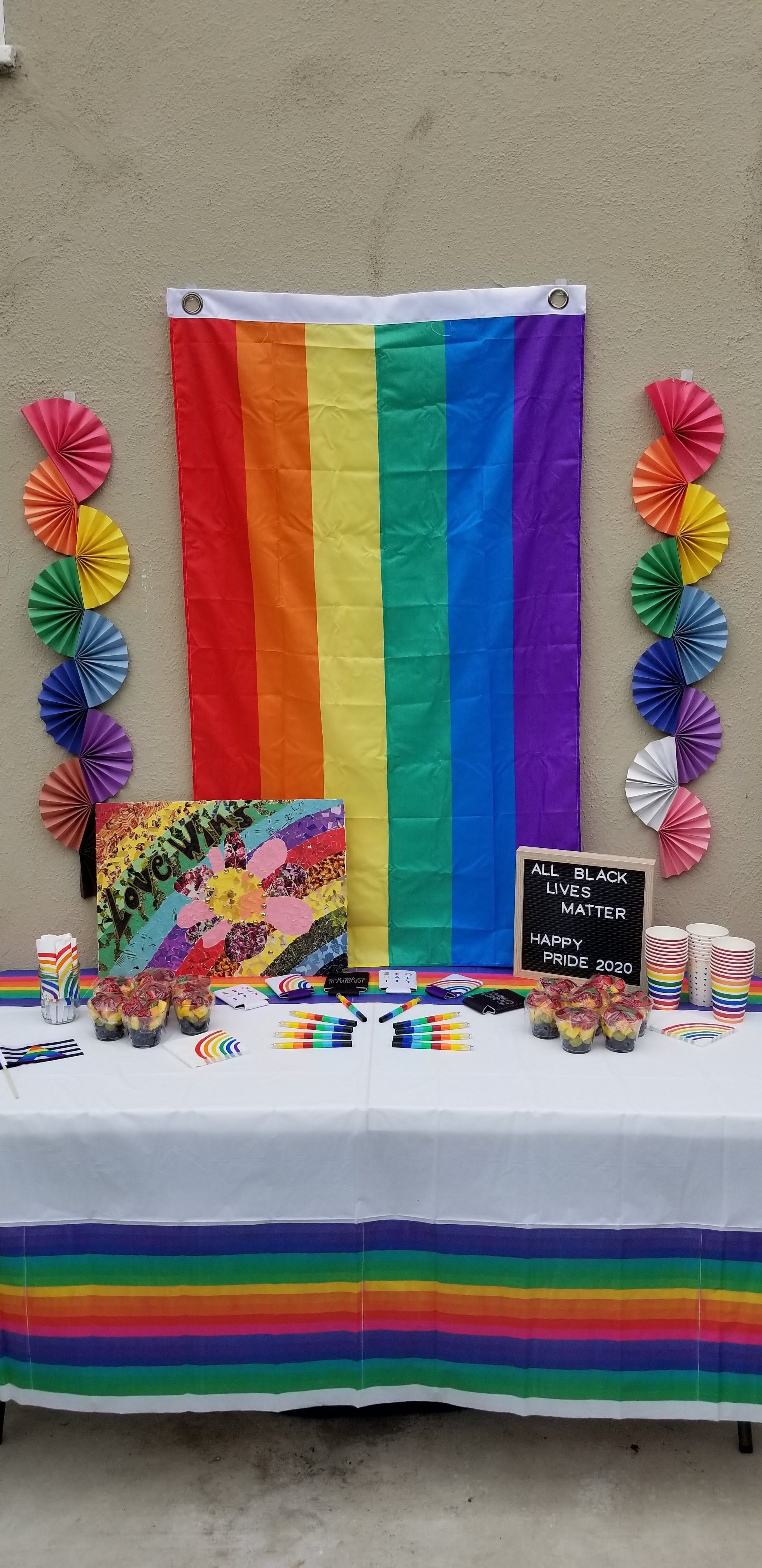pride month PRIDE Create Happiness Rainbow Garland Party decoration colorful party nursery decor lgbtq rainbow decor summer parties