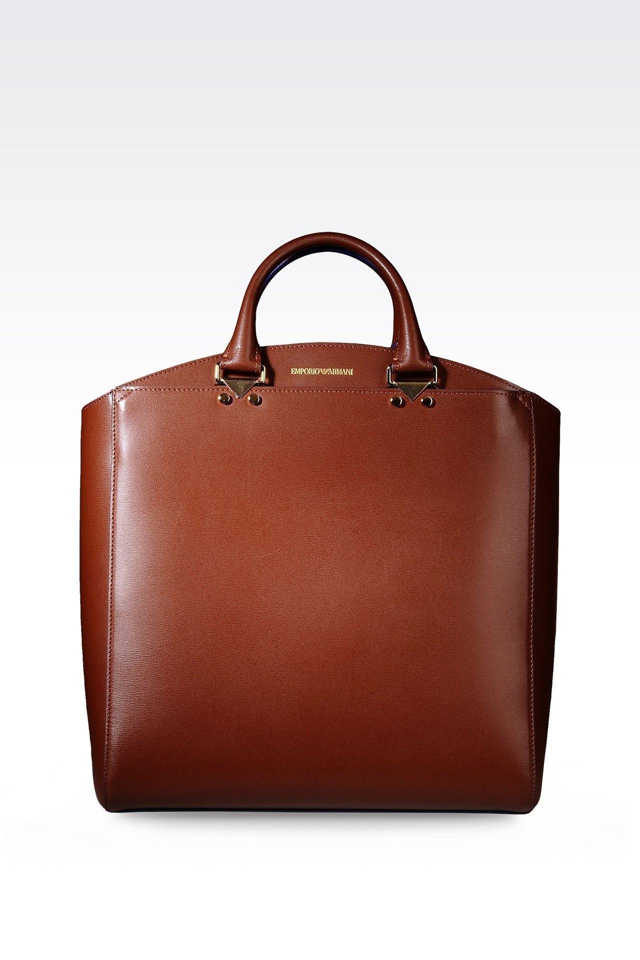 0fda7d1b897  Emporio Armani Women Shopper - TOTE BAG IN BOARDED CALFSKIN Emporio Armani  Official Online Store