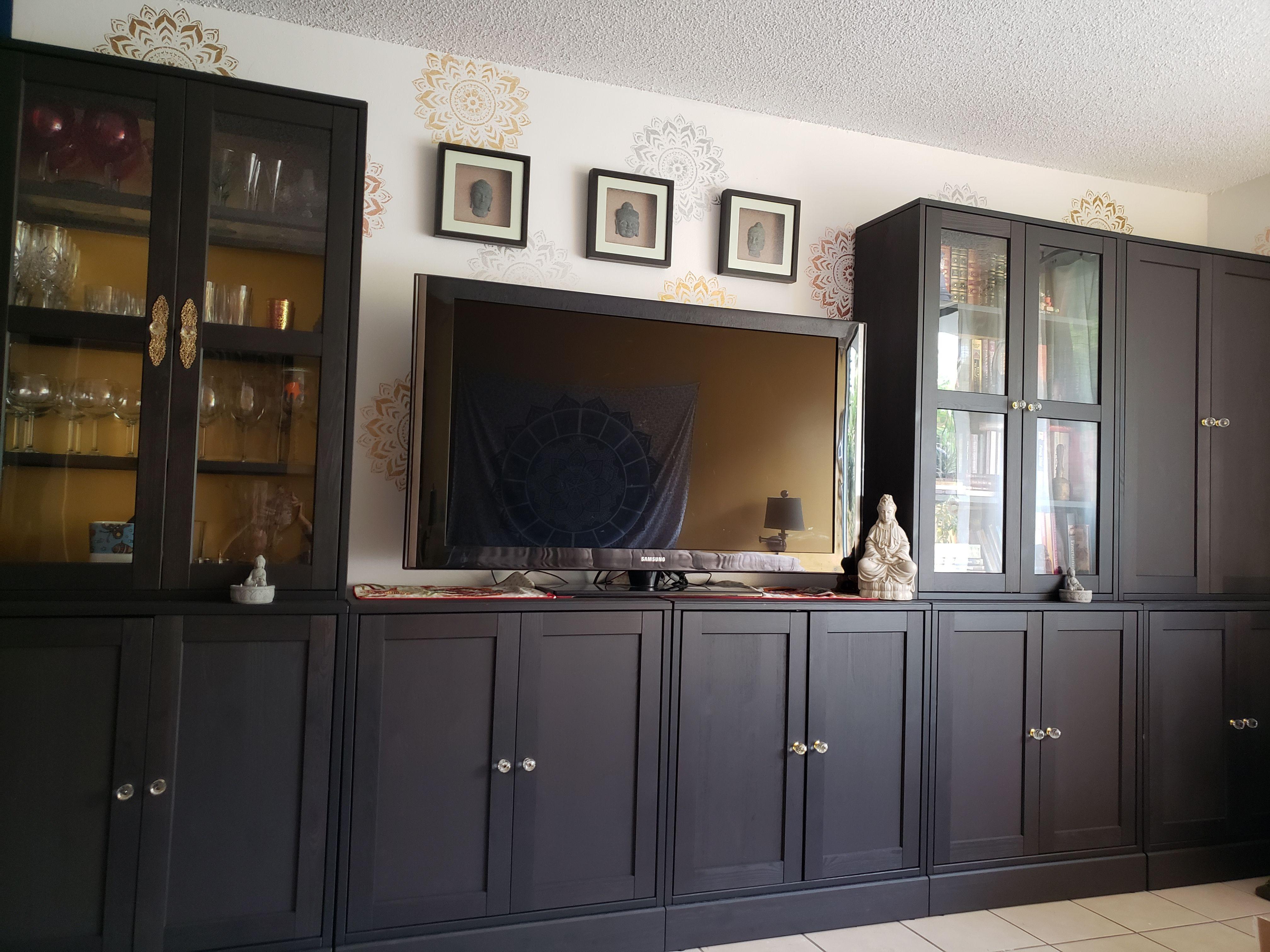 full wall of havsta elegance  ikea living room living