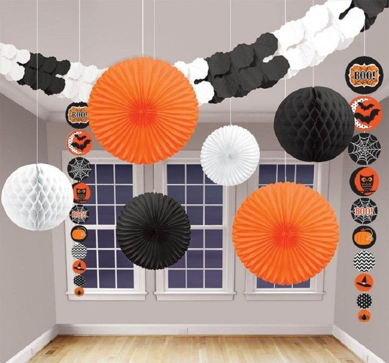Halloween party decorations honeycomb tissue garland balloon paper - halloween party decorations cheap