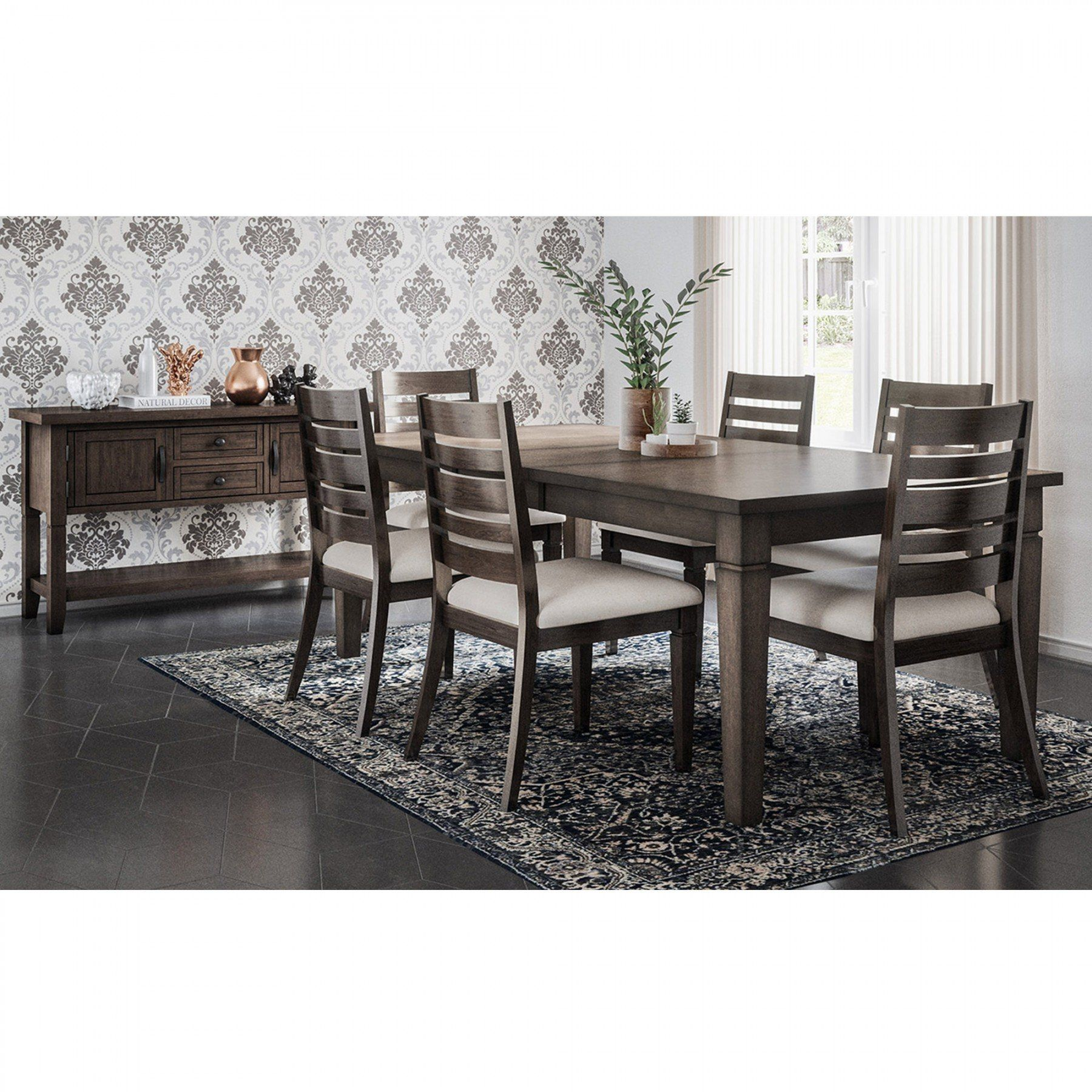 Lincoln Square 7 Piece Dining Set Rectangular Table With 6 Side Chairs Bernie Phyl S Furnit 7 Piece Dining Set Rectangular Table Rectangular Dining Table