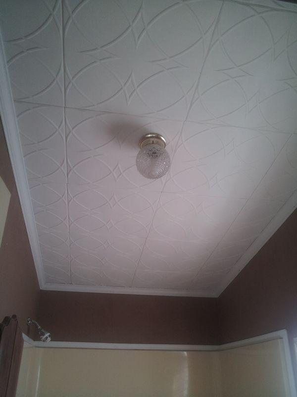 Circles And Stars Styrofoam Ceiling Tile 20x20 R82