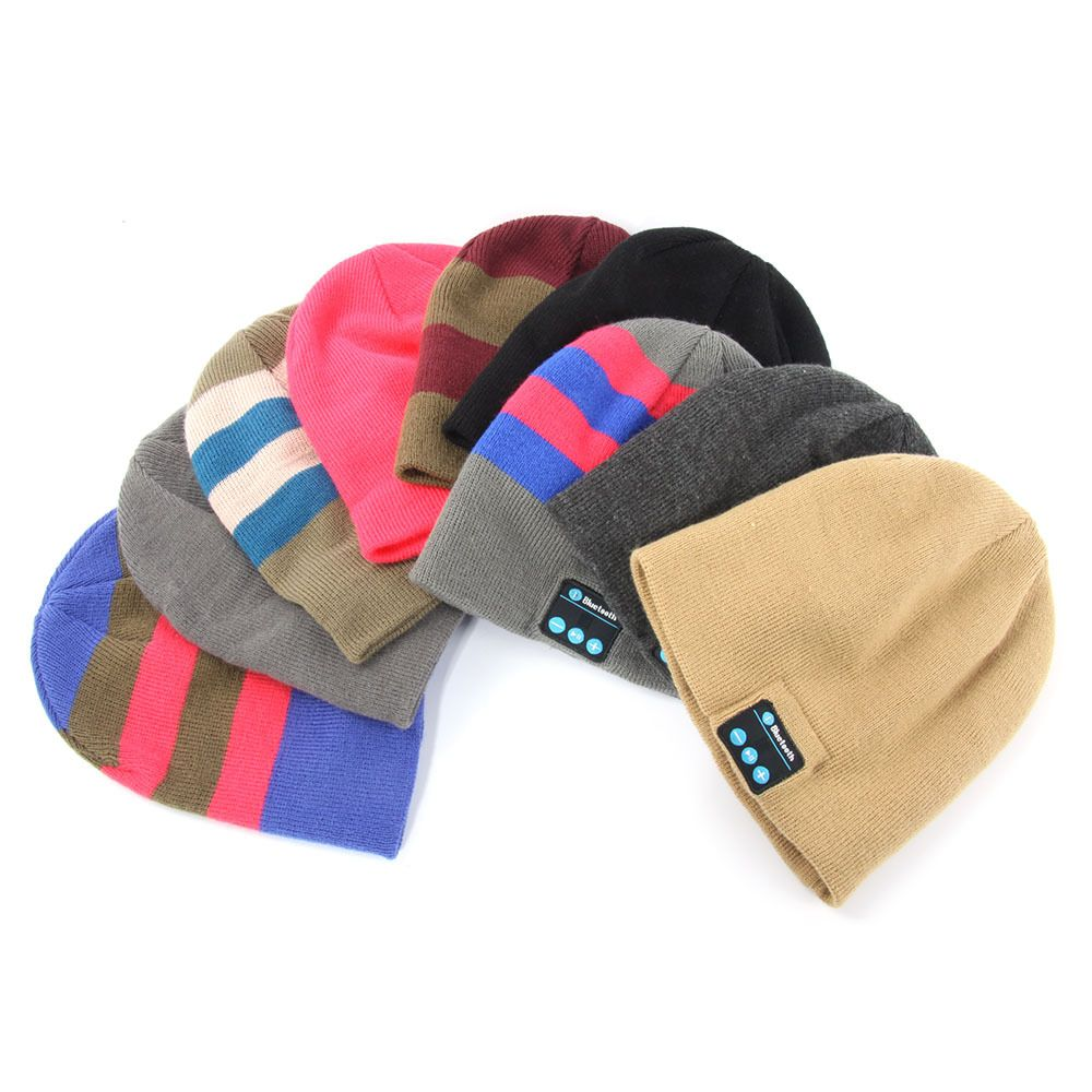 81ef4f16eb5 Smart Wireless Bluetooth Cap Headphone Headset Speaker Magic Hat Mic Soft  Warm Beanie Hats