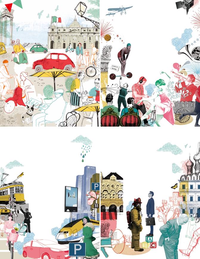 Los collage ilustrados de Tonwen Jones by Little Haggi http://www.littlehaggi.blogspot.com