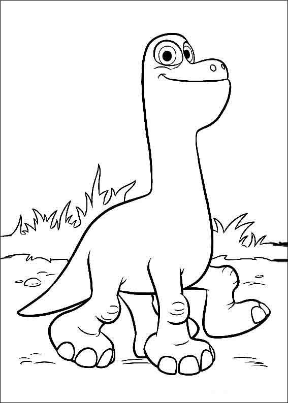 The Good Dinosaur Coloring Pages 4 | Coloring pages for kids | Pinterest