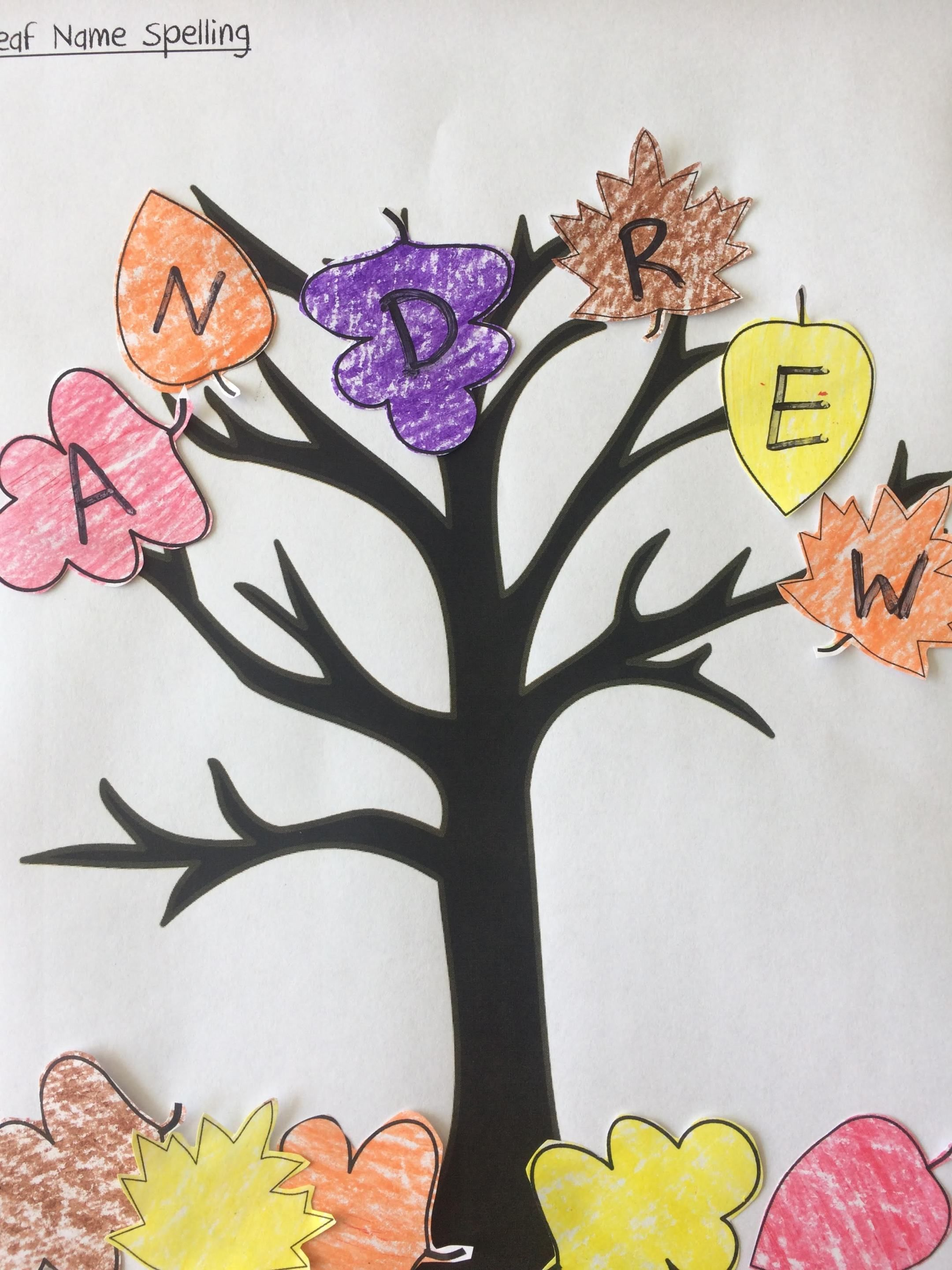Spelling Names With Fall Leaves