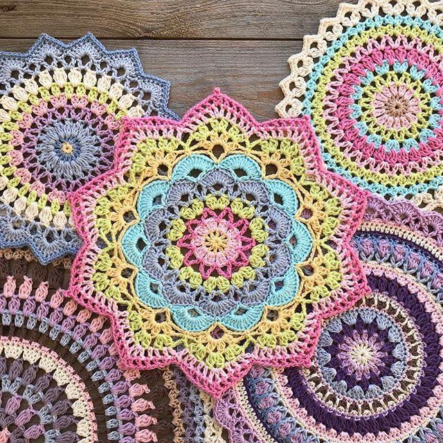 """Mandala """"Magnolia"""" – Free Pattern #crochetmandalapattern"""