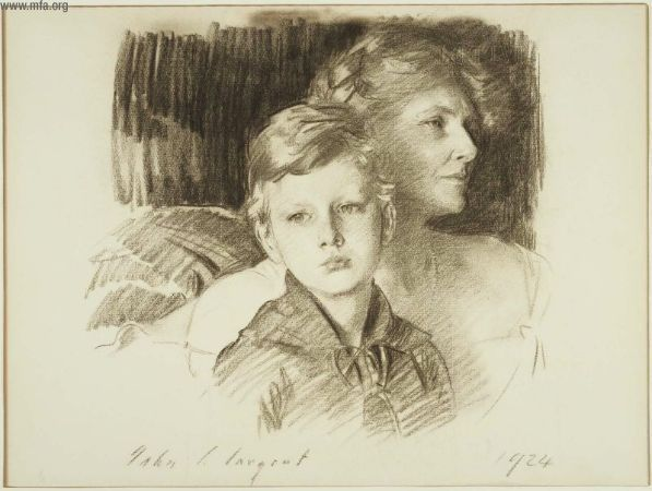 """Charlotte Nichols Greene and her Son Stephen"" John Singer Sargent"