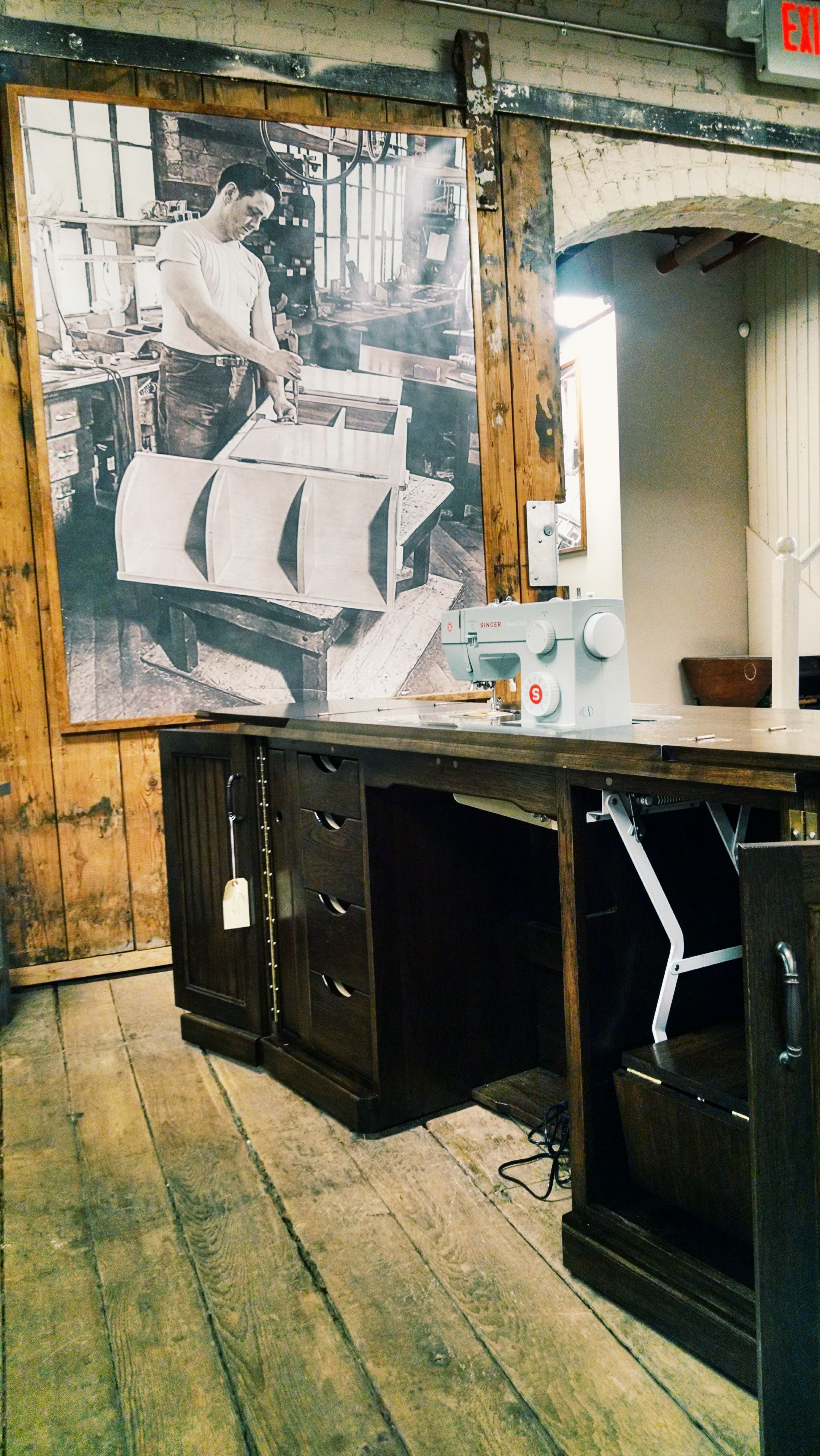 These Amish Crafted Sewing Cabinets By Yoder S Woodworking Feature