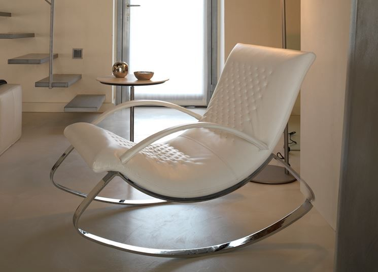sedia a dondolo moderna | furniture | Pinterest | Chair, Rocking ...