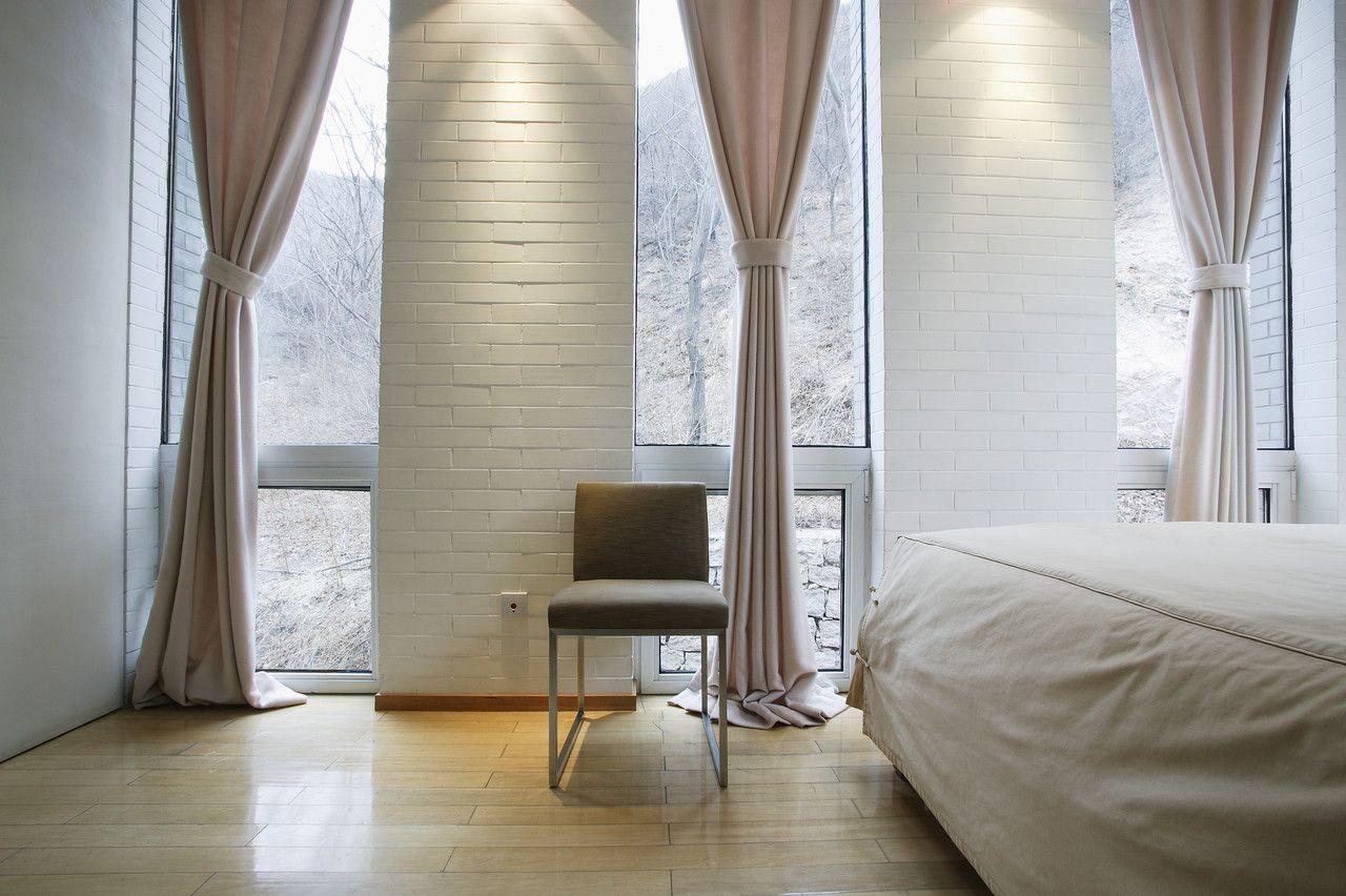 Perfekt Innenarchitektur, Wandgestaltung, Schlafzimmer, Zuhause, Moderne Vorhänge,  Vorhänge Im Schlafzimmer, Fenstervorhänge, Moderne Himmelbett, ...