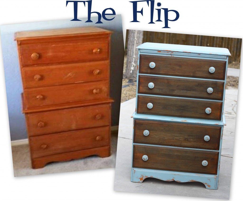 Flip Furniture Furniture Flip Diy Chalk Paint Dresser Chalk Paint Dresser
