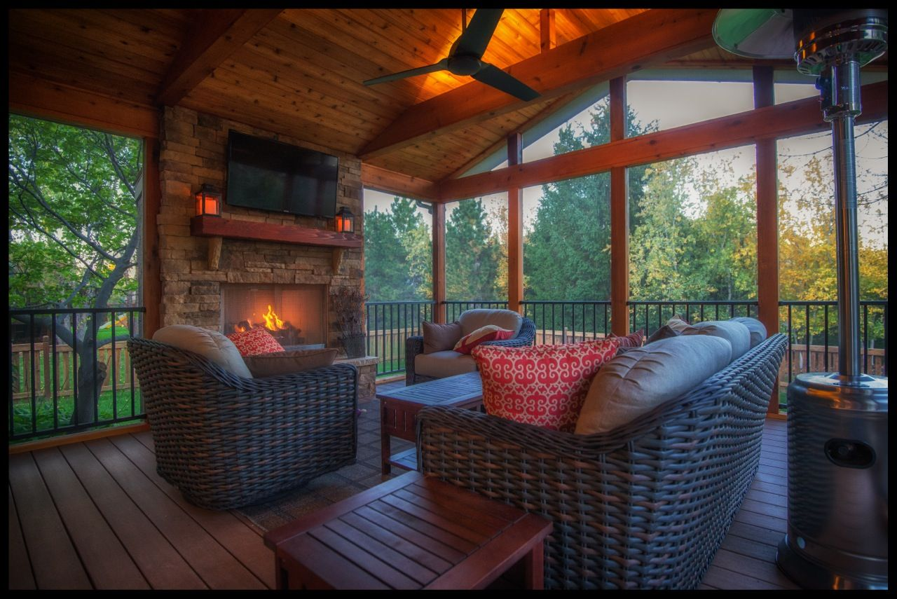cozy screened porch living raleigh durham porch builder