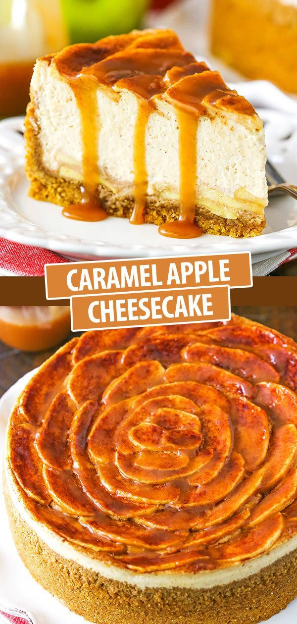 Caramel Apple Cheesecake Recipe | Thanksgiving Dessert