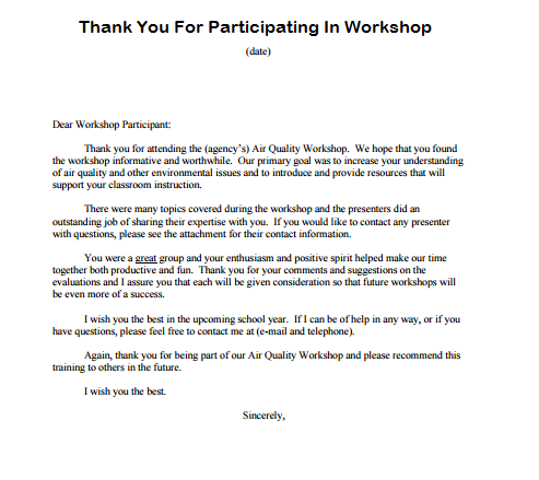 Post Event Sponsor Thank You Letter Sample Planner Client Text Version The