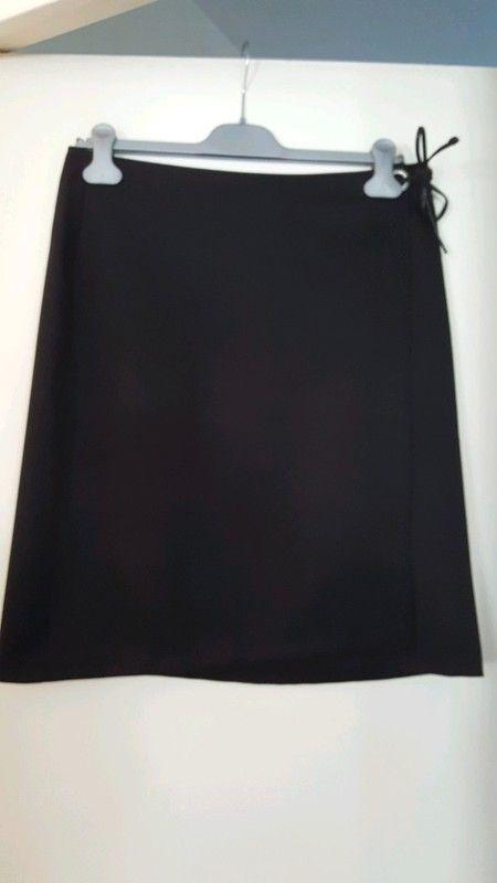 Jupe portefeuille noire