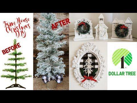 Farm House Inspired Dollar Tree Christmas Diy Diy Decor Challenge Youtube Dollar Tree Christmas Dollar Store Christmas Dollar Tree Diy