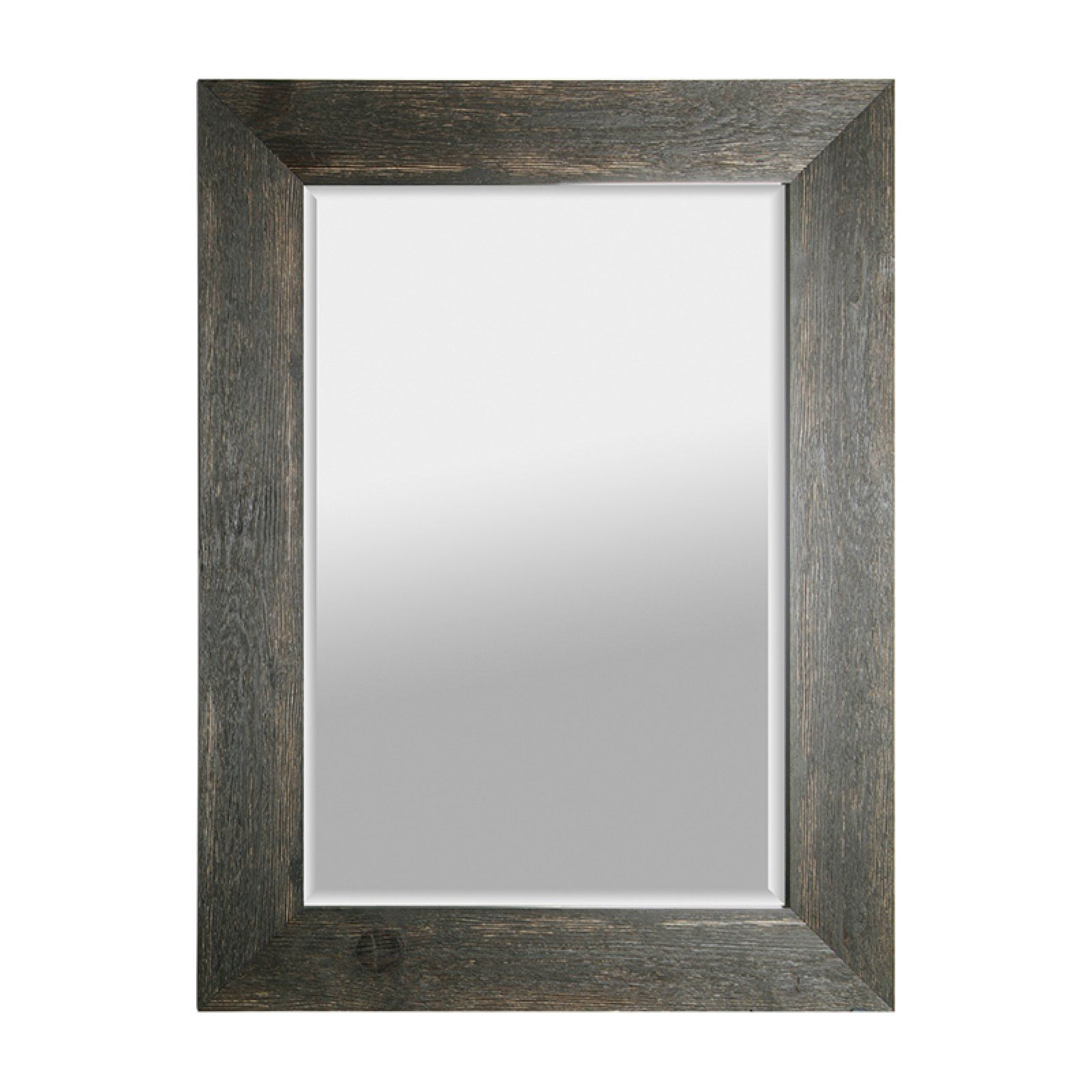 Mirrorize Canada Hand Stained Wood Beveled Mirror 34w X 46h In Black Staining Wood Wood Framed Mirror Beveled Mirror
