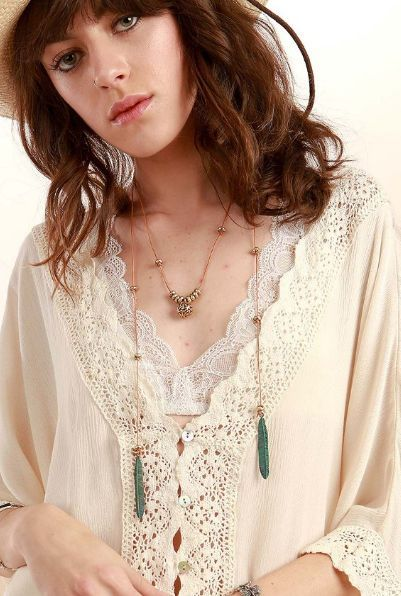BOHO Metallic Feather Knotted Necklace Why wait weeks to get your products? We ship the same day, and we care about you!   #umgee #POL #followme #weshipfast #weloveourcustomers