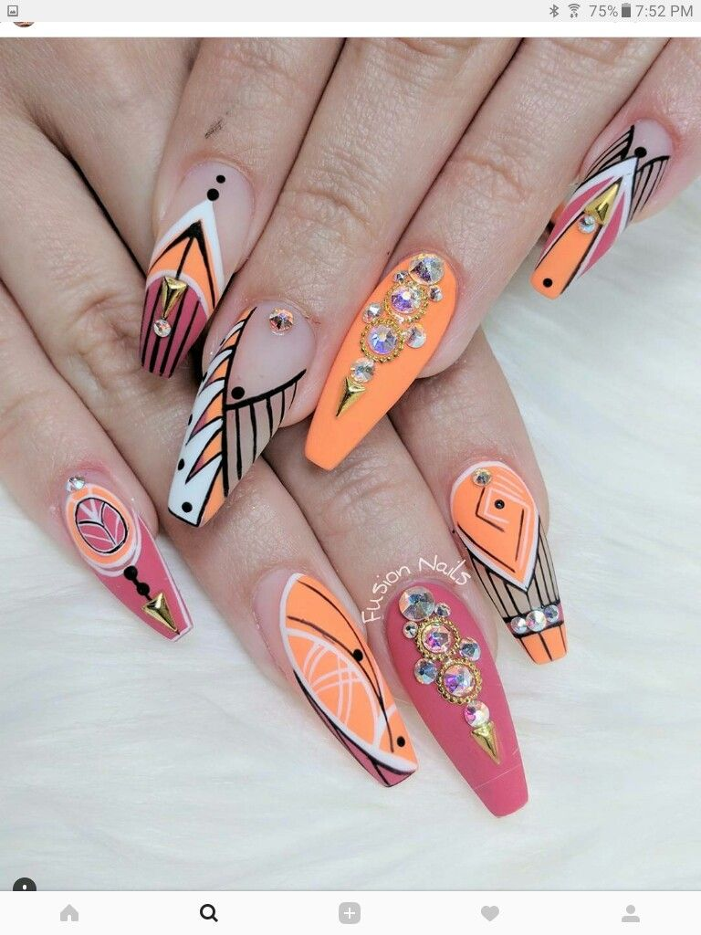 Pin by Bao Huang on Nailsss | Nails, Acrylic nails, Easy nail art