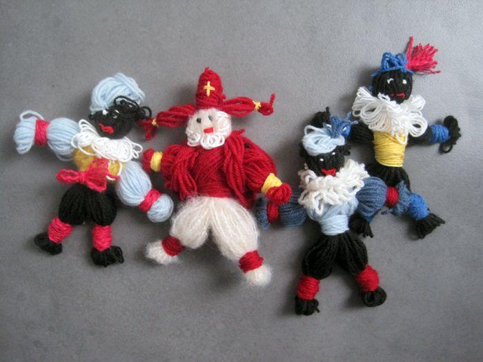 Zelf Sinterklaas en Zwarte Piet maken van wol | Cadeaus maken