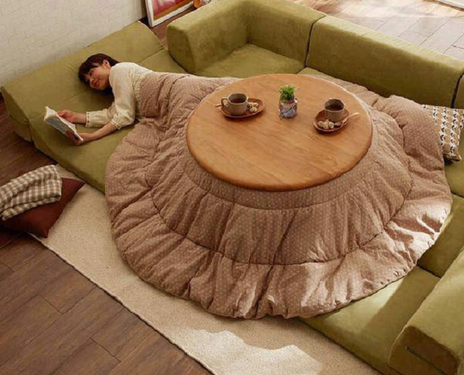 Comfort In Anese Style Kotatsu Heated Tables Rungmasti