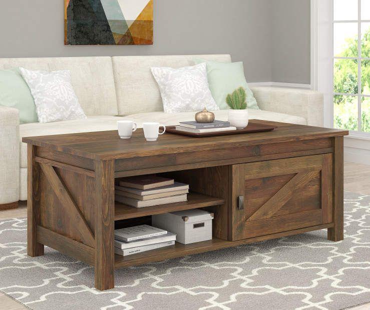 Rustic Brown Coffee Table Pine Coffee Table Rustic Room Door
