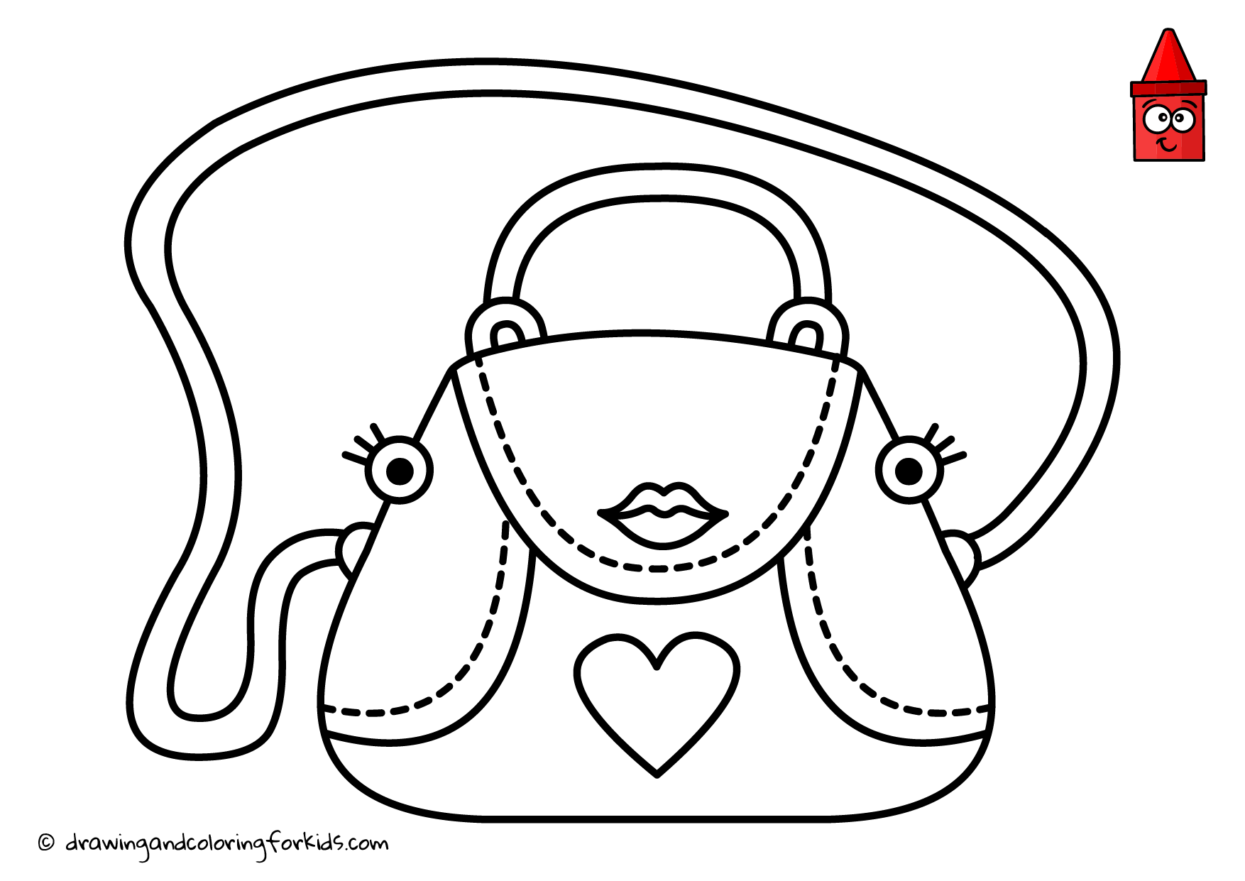 Drawing Purse Coloring Purse Handbag Drawing Coloring Page For Girls Coloring Pages Coloring Pages For Girls Coloring Pages For Kids