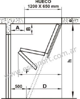 Plano escalera para altillos escalera pinterest for Plano escalera madera