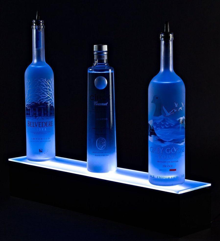 home bar lighting 2 39 led lighted liquor bottle display. Black Bedroom Furniture Sets. Home Design Ideas