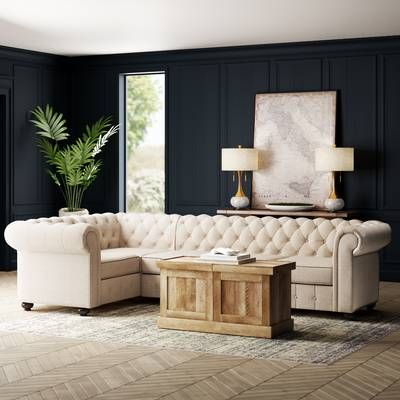 Quitaque Chesterfield 84 Quot Rolled Arm Sofa Sectional Sofa