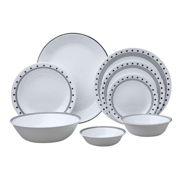 Corelle Livingware Dinnerware Set Service For City Block