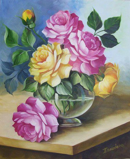 pintura de tela paisagem alemao pesquisa google telas escudeiro pinterest fleurs peintes. Black Bedroom Furniture Sets. Home Design Ideas