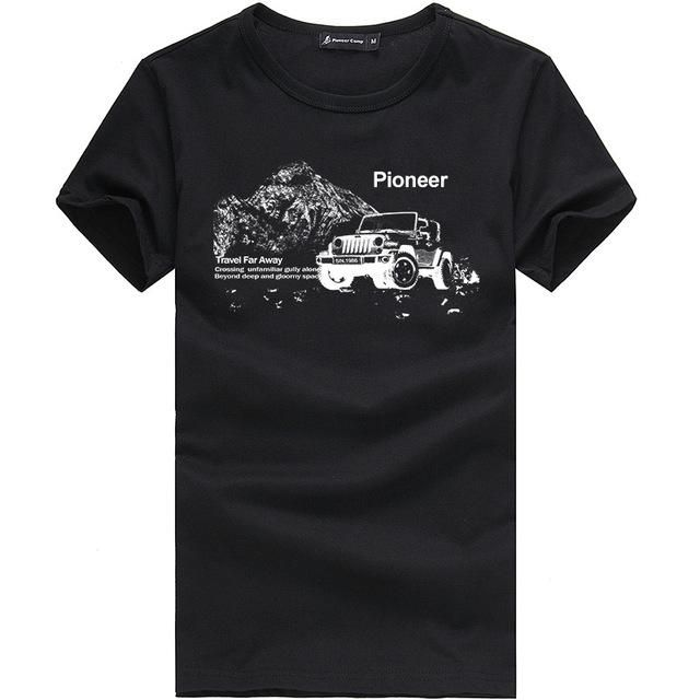 Pioneer Camp Men T Shirt New 2017 Cotton Simple Print: Pioneer Camp 2017 New Fashion Summer Short Men T Shirt