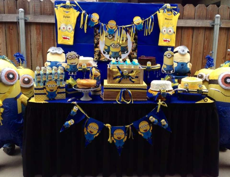 Minions Baby Shower Twin Minions Baby Shower Pinterest