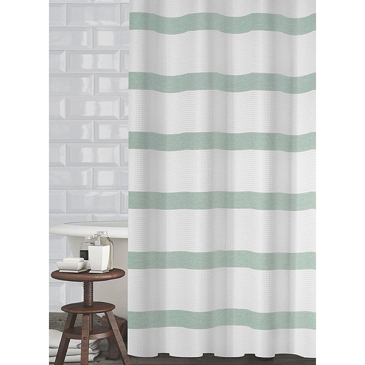 Mint Green Shower Curtain Fabric Di 2020 Hidup Sehat