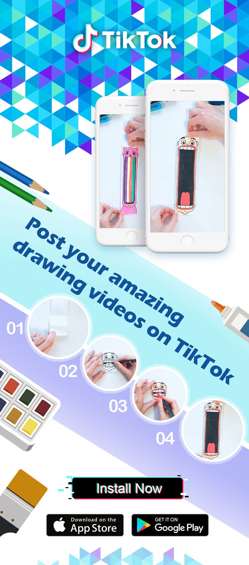 Download tiktok musically to watch awesome diy videos