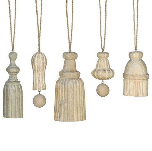 HomArt Carved Wood Tassel Assortment