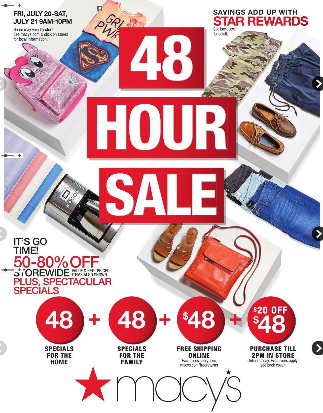 Macy S One Day Sale Catalog January 18 19 2019 Weeklyad123 Com Weekly Ad Circular Grocery Stores One Day Sale Macys Coupons Macys