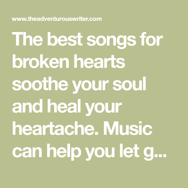 Songs about letting go of anger