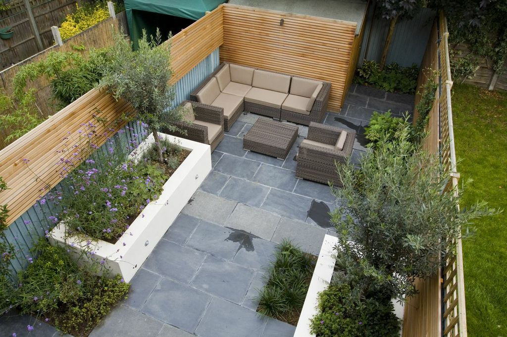 Aerial view of this comfortable back garden! | Small ...