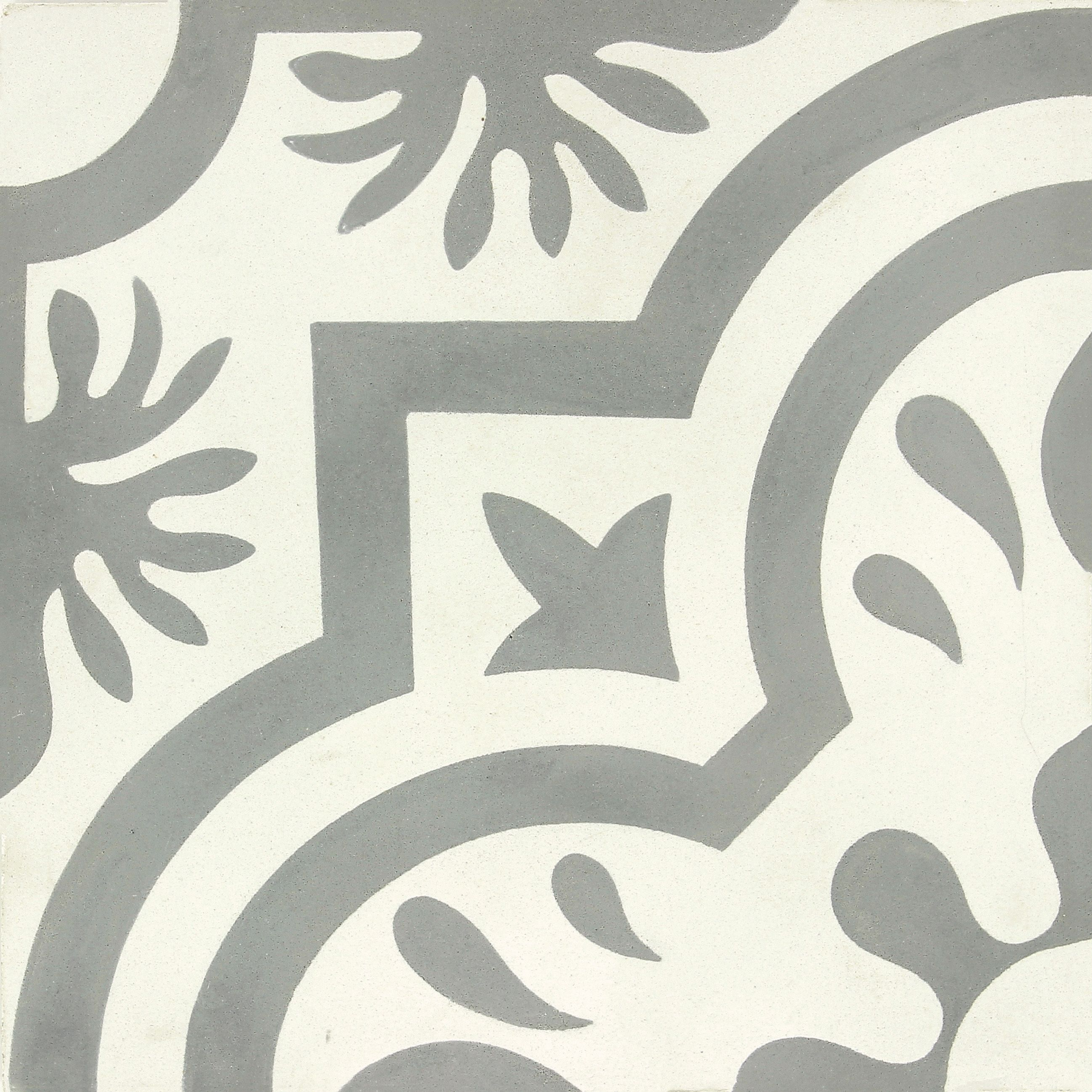 Carreau De Ciment Belle Epoque Decor Emma Gris Et Blanc L 20 0 X